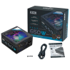 AZZA 650W 80 PLUS BRONZE ARGB Certified PSAZ-650W(ARGB) New Model AURA SYNC